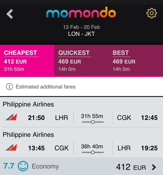 LHR-JKY flight for valentines